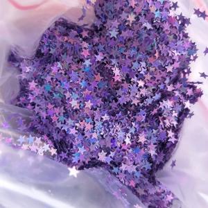 Звездочки глитер фиолетовый 3,5 мм