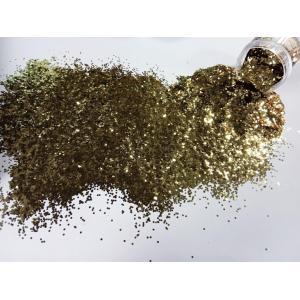 Шестигранники глитер золото 1 мм