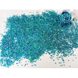 Звездочки глитер голубой 3,5 мм