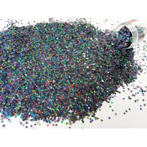 Звездочки глитер серый радужный отлив 3,5 мм
