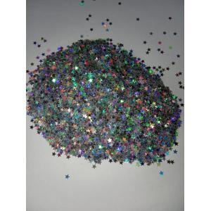Звездочки глитер серебро 3,5 мм