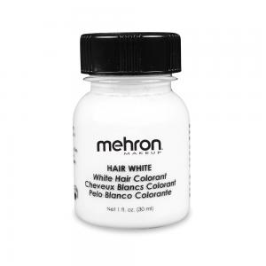 Mehron краска для волос  белая  30 мл с кистью