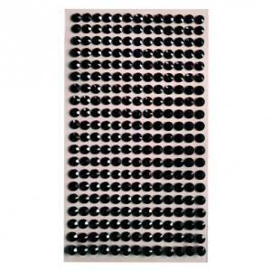 Стразы самоклеющиеся черные круглые 4 мм