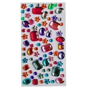 Стразы самоклеющиеся микс цветные прямоугольные камни