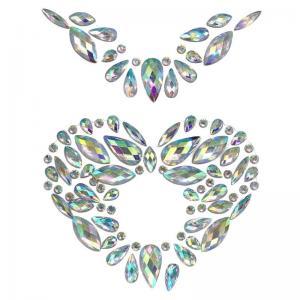 Стразы самоклеющиеся бинди перламутровое ожерелье-сердце