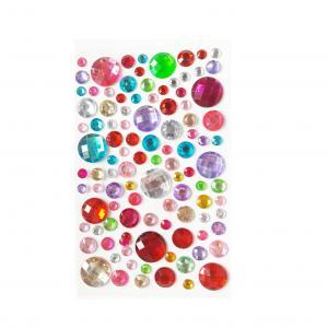 Стразы самоклеющиеся микс цветные круглые камни