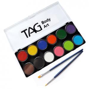 Аквагрим TAG  палитра базовая 12 цветов