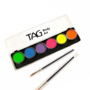 Аквагрим TAG  палитра неон 6 цветов