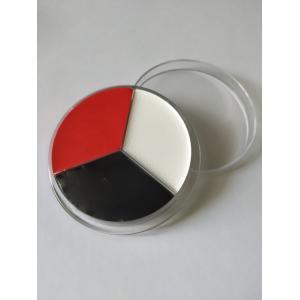 Профессиональный театральный грим красный черный белый колесо