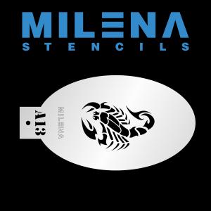 Трафарет для аквагрима скорпион A13 Милена
