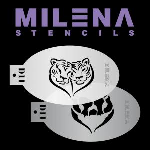 Трафарет для аквагрима дабл тигр D11 Милена