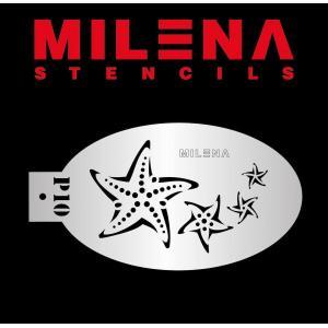 Трафарет для аквагрима морские звезды P10 Милена