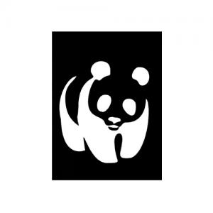 Трафарет панда 1